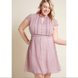 ModCloth Oh Say Can Museum Striped Dress
